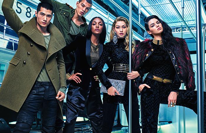 Balmain X H&M Campaign