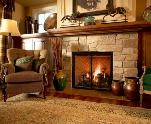 Elegant-Fireplaces-Vintage-Design-Stone-Fireplace-Mantel