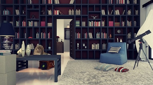 large-home-library-with-reading-corner-cozy-chair