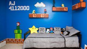 Kamar AJ yang terinspirasi dari Mario Bros