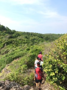 Jalur trekking di PUlau Sangiang